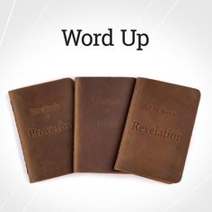 Made with waterproof synthetic paper and covered by a material that actually honors what it holds - tap the link in our bio to see our new full grain leather-bound Bible Booklets John The Revelator, Saddleback Leather, Up Book, Word Up, Booklet, Paper, Instagram Posts, Designers, Fans