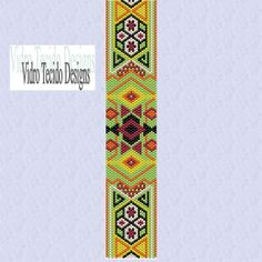 Bright and Colorful Peyote Stitch Pattern by vidrotecido on Etsy, $1.00