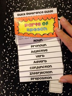 Use grammar interactive notebook foldable pieces to teach and review parts of speech with your middle school ELA students. Notes support Common Core Language standards, including pronouns (6th grade), conjunctions and sentence structure (7th grade), verbs and verbals (8th grade). -- from Mixed-Up Files