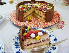Me Encanta el Chocolate: Tarta de Kit Kat, Nutella y Lacasitos!