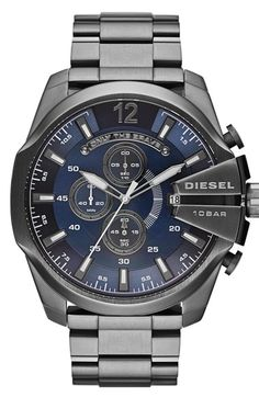 DIESEL® 'Mega Chief' Chronograph Bracelet Watch