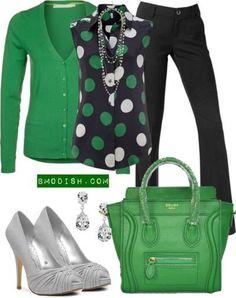 Celine Luggage Mini Handbag Green
