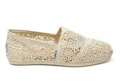 Lace Toms. So cute and perfect for summer!