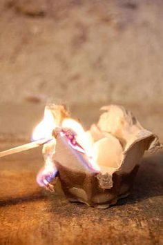 It might be a little out of the ordinary, but @artofdoingstuff found a way to turn egg cartons into Homemade Firestarters -- and we love it. No more store-bought for us!