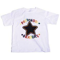 Chalkboard T-Shirt - Preschool Grad - Here is a graduation award kids can wear all summer long!