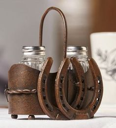 Double Horseshoe Salt and Pepper Shaker Set