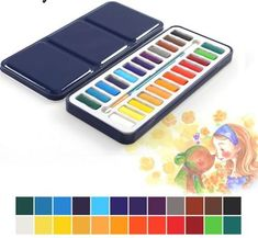 Cheap solid watercolor, Buy Quality watercolor paint directly from China painting pigment Suppliers: Solid Watercolor Paints set painting set CAKES Portable Perfect Outdoor Painting Pigment Kids Gift Art Supplies Watercolor Kit, Watercolour Painting, Canvas Painting Tutorials, Stationery Pens, Gifts For An Artist, Office And School Supplies, Diy Wall Art, Texture Painting, Art Supplies