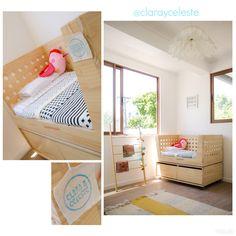 Esta cuna de colecho es de Clara&Celeste, la idea es que se adosa a tu cama, quedando tu hijo al lado tuyo. www.clarayceleste.cl