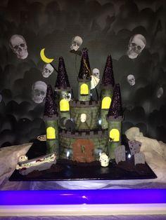 Glow in the darn Haunted Castle Cake