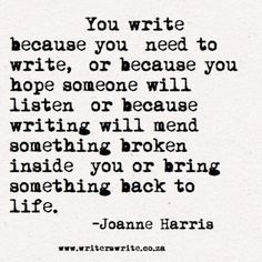 i miss writing every day...
