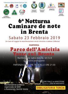 Caminare de Note in Brenta 2019 - 6a edizione si svolgerà il giorno 23/02/2019 a Tezze sul Brenta (Vi) sulla distanza di 8Km e 5Km. #corriqui