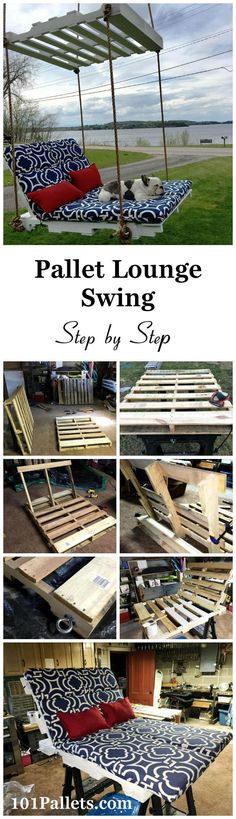 DIY Pallet Lounge Swing - Step by Step | 101 Pallets - Get these DIY hacks out of pallets wood!!