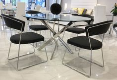 Leather dining chairs offer a sleek look while providing warmth and comfort, and it can be used for .