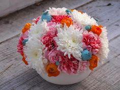 Arreglo de flores con color a primavera de Flores en el Columpio