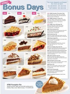 t's Bonus Dessert Days again!!! Here are the delicious choices available this year!! These special desserts can give Sealston a profit of at least $3000 this month alone if we can sell 500 or more desserts. We only have until November 7th to order, so tell your friends, family & co-workers!!  @Valerie Johnson,@Sarah Otto, @Beth Sillia Motzer,