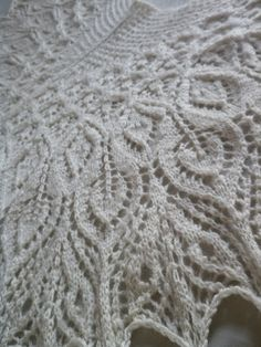 Lovely....sigh...... White Queen handspun hand knit lace shawl in by gizmometry, $475.00.