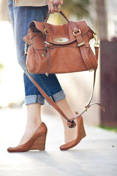 Alexa Mulberry leather bag