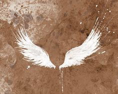 White angel wing tattoo idea papermoth via etsy - love More