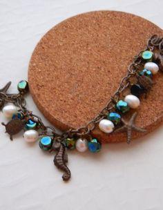 Beach Charm Bracelet by JulieEllisDesigns