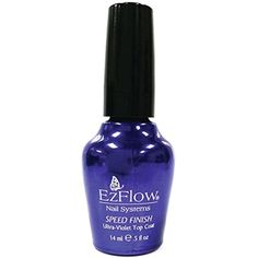 EZ Flow Speed Finish UV Top Coat, 0.5 Fluid Ounce -- Be sure to check out this awesome product. (This is an affiliate link) #NailPolish