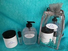 Deluxe Gift Set - 8 oz lotion, 8 oz. body wash and roll-on fragrance.