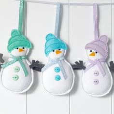 ☃️ Christmas snowmen (and snow women ) now in stock, choice of colours, look super cute on a tree ☃️