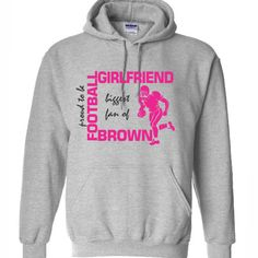 Football Girlfriend Hoodie Sweatshirt Women by PrintasticApparel