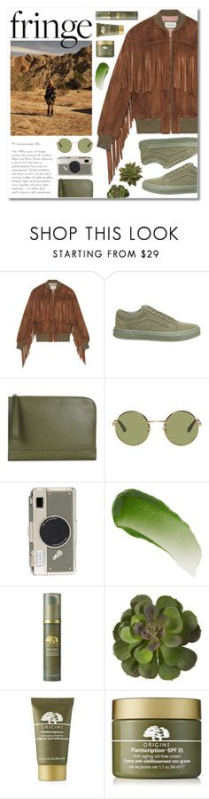 """""""succulent"""" by janajane90 ❤ liked on Polyvore featuring Gucci, Anja, Vans, Valextra, Yves Saint Laurent, Kate Spade, Lipstick Queen, Origins and fringe"""