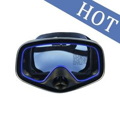 DIVING MASK GLASSES SNORKELING SCUBA UNDERWATER HUNTING FULL FACE MASK GOGGLES WITH TEMPERED GLASS LENS FOR SPEARFISHING M-246