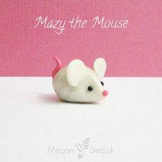 Clay Animal Figurine Mouse Handmade Small by MeganSiedzik on Etsy, $8.00
