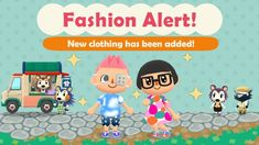 Animal Crossing: Pocket Camp - new clothing addition (4/24/18) - Nintendo Everything  ||  Some new clothing items have been added to the mobile game: post-op patch cloudy tee thick glasses gumdrop dress colorful sneakers You can craft these after reaching a certain level. https://nintendoeverything.com/animal-crossing-pocket-camp-new-clothing-addition-4-24-18/