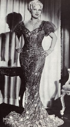 """Mae West.  """"Goodness what beautiful diamonds!"""" """"Goodness had nothing to do with it."""""""