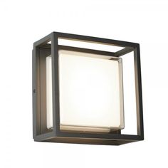 Ohio outdoor led square with dark grey opal white - 32955 modern, contemporary outdoor lighting. Flush Lighting, Porch Lighting, Exterior Lighting, Led Outdoor Wall Lights, Led Wall Lights, Ceiling Lights, White Wall Lights, Modern Wall Lights, Contemporary Outdoor Lighting