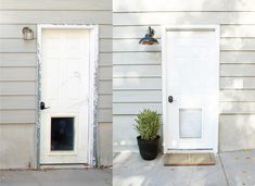 An Easy Side Entrance Makeover with HANDy Paint Pail - Chris Loves Julia