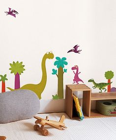 I love the dancing dinosaur for M's room. Plus, it's not too girly just in case we have a boy.