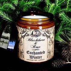 ENCHANTED WINTER 9oz Artisan Soy Candle - Fall in love with our richly scented sophisticated artisan soy candles, drenched in an exquisite essential oil fusion of blood orange, tart cranberry, fresh apple, warm cinnamon, and winter spices. Perfect to add a warm beautiful glow of illumination in your home for all of your Winter celebrations, festivities and holiday gatherings!