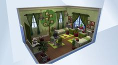 Confira este cômodo na Galeria do The Sims 4! - Fun bedroom for young sims who love bugs and science. #nocc #chris2fer03 #ladybugs #kid #friendly #green
