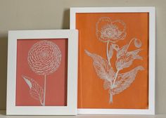 Botanical prints made with sharpie