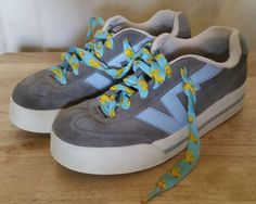 Women's Vans Skateboard Plat V Gray/Blue Shoes, Size 9.5 #VANS #SkateShoes