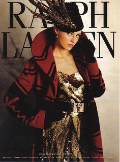 Ralph Lauren 2008 Red Black Coat Gold Sequin Dress Feather Hat by olivarose, via Flickr
