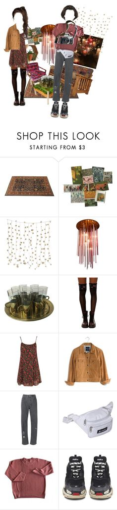 """welcome party"" by youroxyacidparadoxy ❤ liked on Polyvore featuring Urban Outfitters, Canopy Designs, Boohoo, Madewell, Anine Bing, Everest, Balenciaga and Eos"