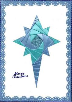 41 best iris folding - Christmas ornaments/stars images on . Iris Folding Templates, Iris Paper Folding, Iris Folding Pattern, Card Making Templates, Templates Printable Free, Christmas Ribbon Crafts, Quilted Christmas Gifts, Christmas Cards To Make, Xmas Cards