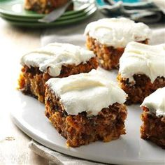Tropical Carrot Cake Recipe -I look forward to August because our family reunion means fun and great food, like this classic cake with the special flair it gets from pineapple. My great-aunt gave me this recipe, and I always make it for the reunion. —Victoria Casey, Enterprise, Oregon