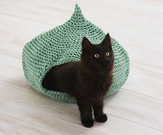 """Although you would never feed your kitty an onion, she will surely give a round of """"a-paws"""" for this cozy onion-shaped cave."""