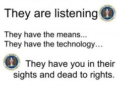It's not just your phone calls – it's YOU they are listening to | The Daily Sheeple http://shar.es/92WHe via @ShareThis #NWO