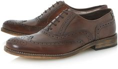 f3da3d2d6a55c Dune Braker Oxford Lace Up Brogues in Brown for Men - Lyst Ushers, Brogues,