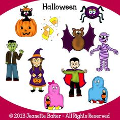 Halloween Clip Art © Jeanette Baker. Available at Jason's Online Classroom. $$
