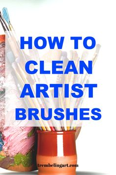 Not cleaning brushes properly can quickly ruin them and take the joy out of your painting. Proper care can keep your brushes around for a long time. Acrylic Painting For Beginners, Simple Acrylic Paintings, Acrylic Painting Tutorials, Oil Painting Abstract, Diy Painting, Watercolor Paintings, Oil Paint Brushes, Cleaning Paint Brushes, Acrylic Brushes