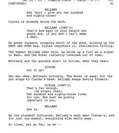 Bellarke- The 100 script 5x3