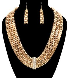 Gold Mesh Layered Chain Necklace – JaeBee Jewelry